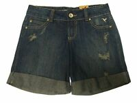 Grane alexxx Sapphire Distressed Rolled Up Jean Shorts Sz 1-super Cute