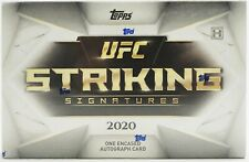 2020 Topps UFC Striking Signatures Hobby Box 1 Pack Per Box, 1 Card Per Pack