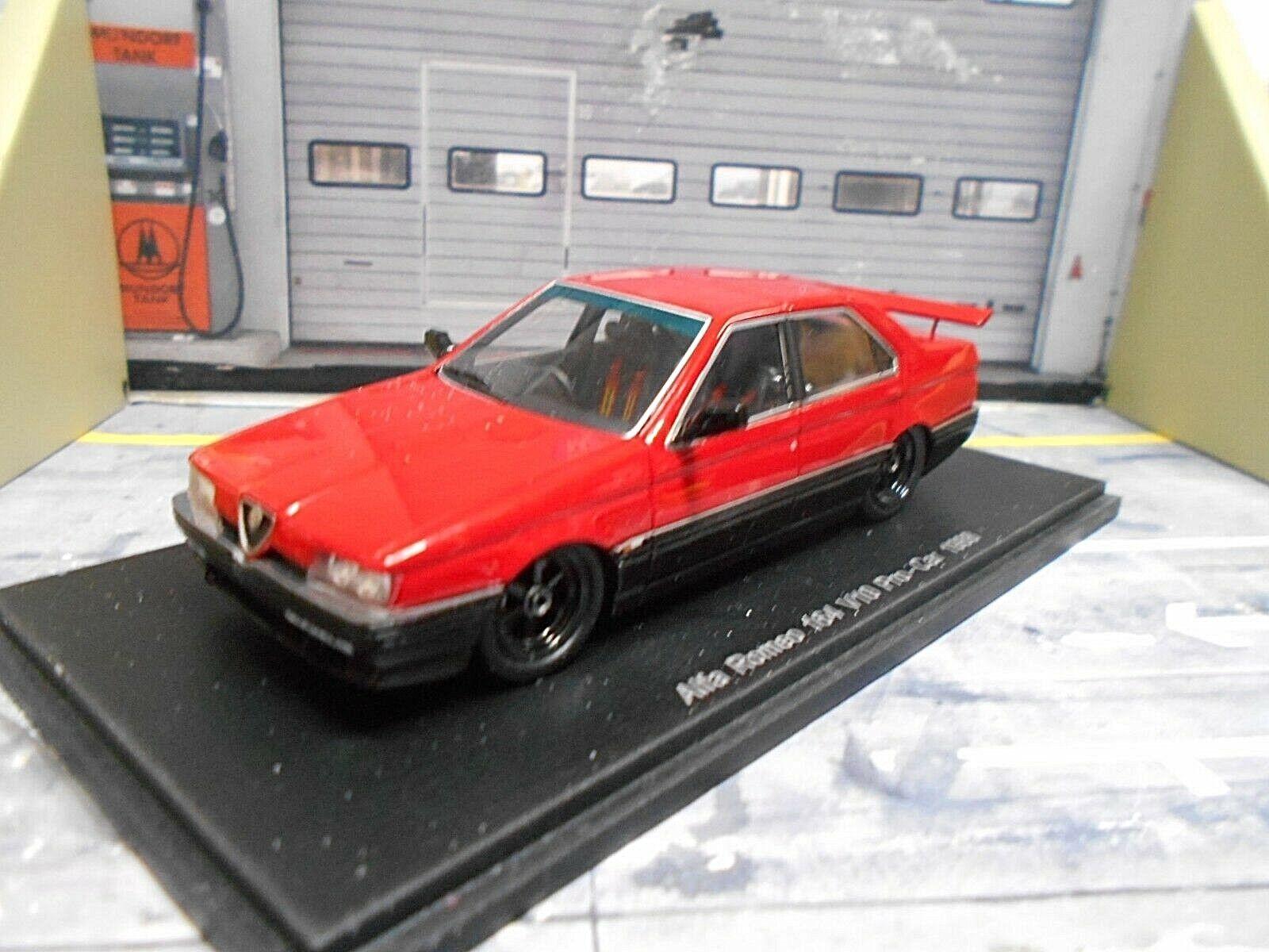ALFA ROMEO 164 BERLINA v10 PRO CAR ROSSO RED 1988 resin Highend SPARK 1:43