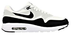 Scarpe-Uomo-Donna-Nero-Antracite-Bianco-Nike-Air-Max-1-Ultra-Essential-Sneakers