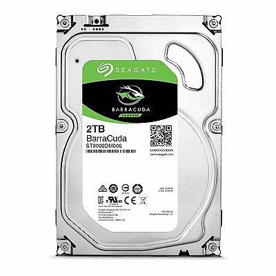 """Seagate BarraCuda 2TB 3.5"""" SATA Internal Desktop Hard Drive HDD 7200RPM 64MB"""