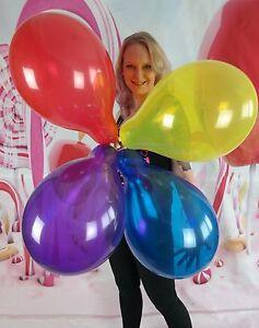 10-x-Tuftex-14-034-Luftballons-GEMISCHTE-KRISTALLFARBEN-ASSORTED-CRYSTAL-TUF-TEX