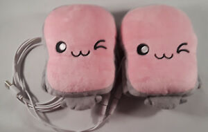 Toast USB Hand Warmers Cute Heating Gloves Half Wearable Fingerless Pink 5V