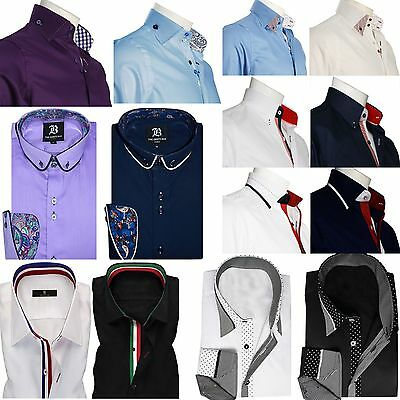 Begeistert Mens Formal Shirt Men Italian Dress Designer Casual Luxury Shirts Regular Fit Geschickte Herstellung
