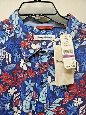 NWT $115 Tommy Bahama SS Shirt Botticelli Toss Kingdom Blue Mens S M L XL XXL
