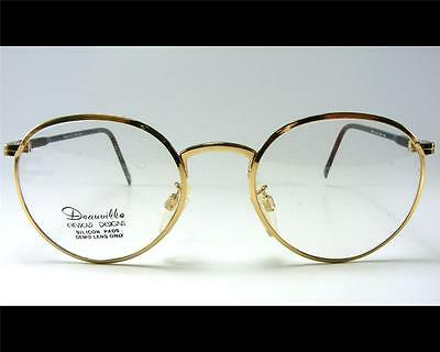 34eef77ba3 Vintage Panto Gold P3 Heavy 46-21 Small Wire Rim Eyeglass Frame 1980 s NOS  NEW