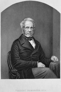 PRIME-MINISTER-VISCOUNT-PALMERSTON-HENRY-JOHN-TEMPLE-1860-Art-Print-Engraving