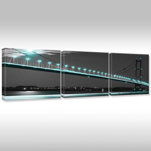 Imagen del lienzo canvas muro imagen son impresiones artísticas arquitectura iluminados puente en la noche