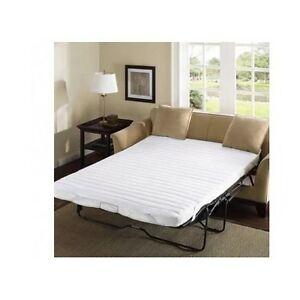 Sleeper Sofa Bed Pad Full Size White Pull Out Mattress
