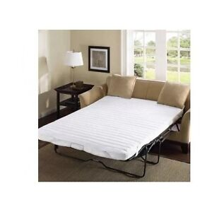 sleeper sofa bed pad full size white pull out mattress cover convertible bedding ebay. Black Bedroom Furniture Sets. Home Design Ideas