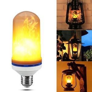 E27 9W LED Licht Fackel Feuer Lamp Flammen Effekt Glühbirne Flacker Birne