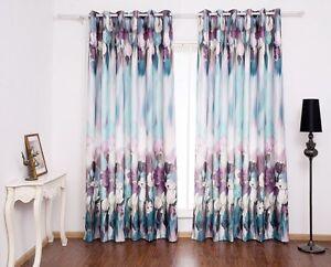 Image Is Loading VIVOSUN 2 Panel Blockout Window Curtains Paint Printed
