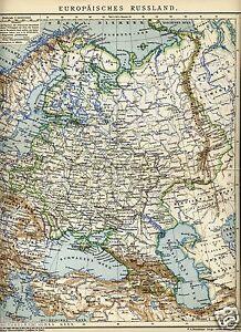 Cartina Russia Da Stampare.1903 Russia Europea Antica Mappa Old Map Ebay