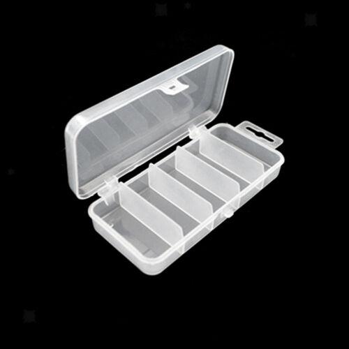Mini 5-slots Fishing Tackle Box Small Fishing Supply Container Organizer