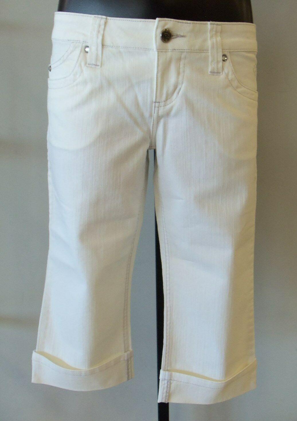 Harley Davidson Women's White Denim Capri Pants