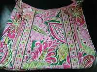 Vera Bradley Lisa B Pinwheel Pink With Tags, Retired Pattern & Style