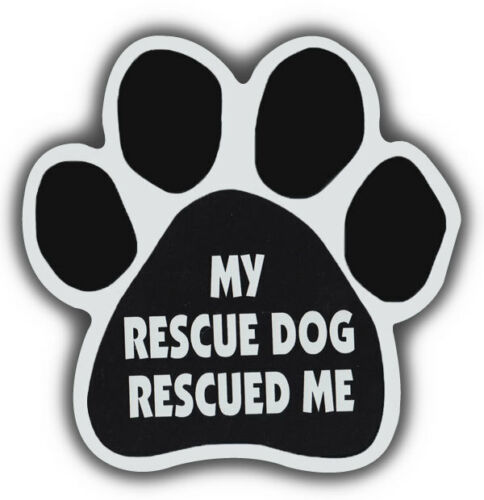 Trucks Dog Paw Shaped Magnets Refrigerators MY RESCUE DOG RESCUED MECars