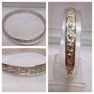 Hermosa Brazalete 800er Plata Brazalete Brazalete De Plata Con Motivo/patrón Luxuriant In Design Jewelry & Watches Fine Jewelry