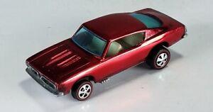 Restored-Hot-Wheels-Redline-1968-Custom-Barracuda-Red
