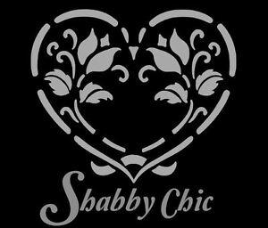 SHABBY CHIC VINTAGE STENCIL SCHABLONE FRANKREICH MÖBEL WAND TEXTIL GARDINEN