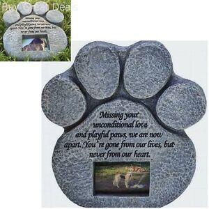 Cat-Stone-Grave-Paws-Marker-Name-Headstone-Garden-Pet-Memorial-Paw-Dog-Print