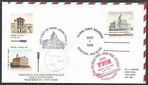 1979 Vaticano Viaggi Del Papa Dispaccio Aereo Boston New York - Rm1
