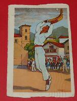 CPA 1937 FRANCE PAYS BASQUE 64 JOUEUR DE PELOTE A CHISTERA JACQUES LE TANNEUR