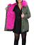 Parka-Donna-Invernale-Giubbotto-cappuccio-pelliccia-Cappotto-Imbottito-Lungo miniatura 19