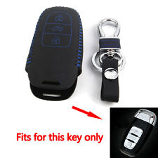 Leather Smart Remote Shell Case Key Holder For Audi A4 A8 3BT Protective Chain
