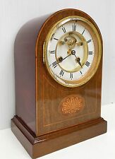 French Mahogany Striking Clock With Jewelled Visual Escapement