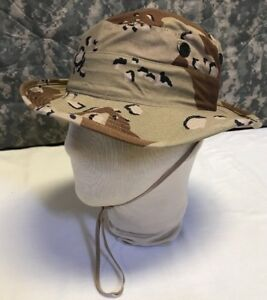 U.S. Military Gulf War Era Chocolate Chip Desert Camo Boonie Hat 6 1 ... d73f618b934