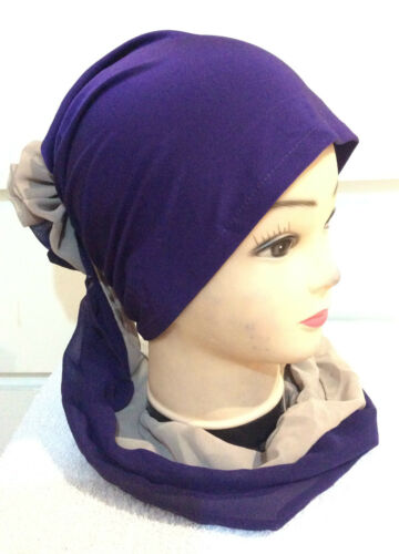 LATEST CHEMO HIJAB UNDER CAP SCARF UNDERCAP UNDERSCARF HAIR LOSS BONNET TUBE HAT