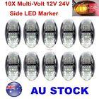 10X 12V 24V Multivolt Truck Marker Boat Red AMBER LED Side Marker Light AU Stock