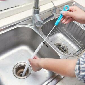 Details about 71cm Flexible Sink Overflow Drain Unblocker Clean Brush  Cleaner Kitchen Tool HOT