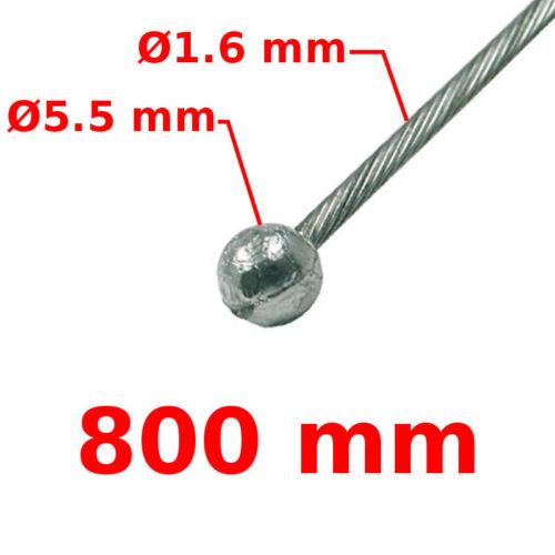CABLE DE FREIN AVANT VELO TETE BOULE D5.5 LG800mm 16//10 VILLE ROUTE VINTAGE