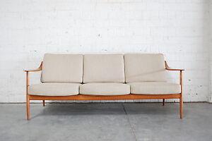 FINE KNOLL ANTIMOTT SOFA 60er Danish ÄRA TEAK WOOD | eBay