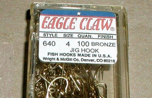 100 EAGLE CLAW H.D.O/'Shaughnessy #4 JIG MOLD HOOK 640 as 630;fit DO IT,PALMER:OS