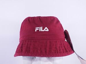 Details about FILA ADULT S M BURGUNDY FISHING BUCKET HAT BY FILA (D124) 4a668c17f21