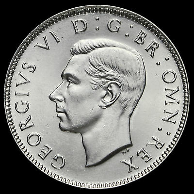 1945 George VI Silver Two Shilling Coin / Florin, A/BU #3
