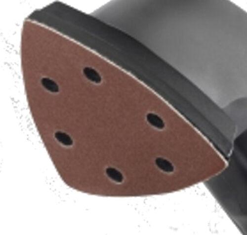 3 grades 93mm triangle Delta sanding pads Pack of 6 Detail hook /& loop