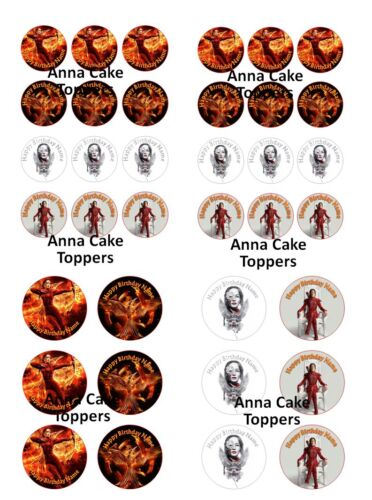 Personalised Hunger Games Mockingjay Cupcakes Toppers **BUY TWO GET ONE FREE**