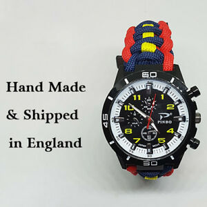 Paracord-Watch-with-The-Royal-Logistic-Corp-RLC-Colours-a-Great-Gift