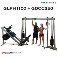 NEW Body-Solid GLPH1100 Leg Press & Hack Squat + GDCC250 Deluxe Cable Crossover