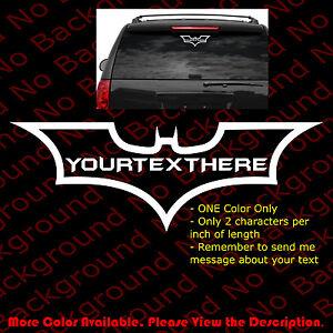 BATMAN LOGO Dark Knight Car//Window Dark Knight DIE CUT Vinyl Decal Sticker CM017