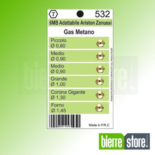 UGELLI GAS METANO 6MB ARISTON ZANUSSI 6PZ 532