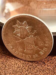 Mexico 25 Centavos 1888 Mo Silver Second Republic Mintage 192000