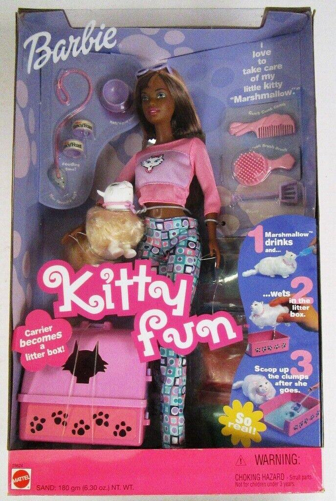 Kitty Fun African American Barbie Doll (NEW)