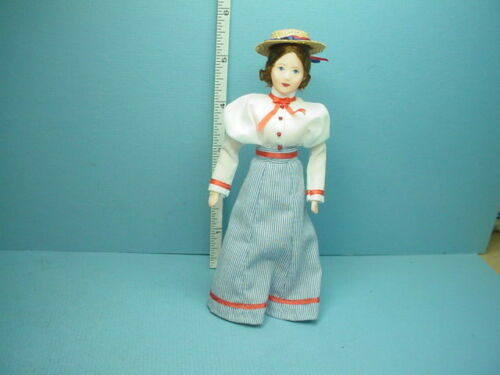 "Miniature Young Woman /""Auguste/"" #10710 Dollhouse Doll Handcrafted Erna Meyer"