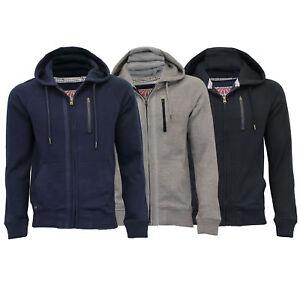 Mens-Sweatshirt-Tokyo-Laundry-Jacket-Hoodie-Top-Fleece-Lined-Casual-Winter-New