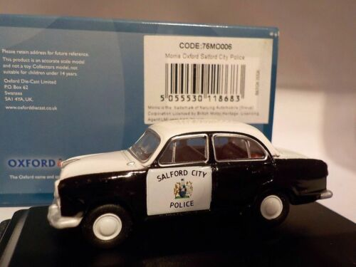Morris Oxford Salford City Police, Oxford Diecast 176 New Dublo, Railway Scal